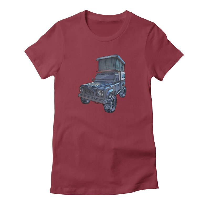 Hower Overland Defender Women's Fitted T-Shirt by Boneyard Studio - Boneyard Fly Gear
