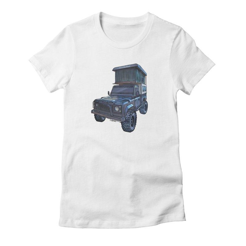 Hower Overland Defender Women's T-Shirt by Boneyard Studio - Boneyard Fly Gear