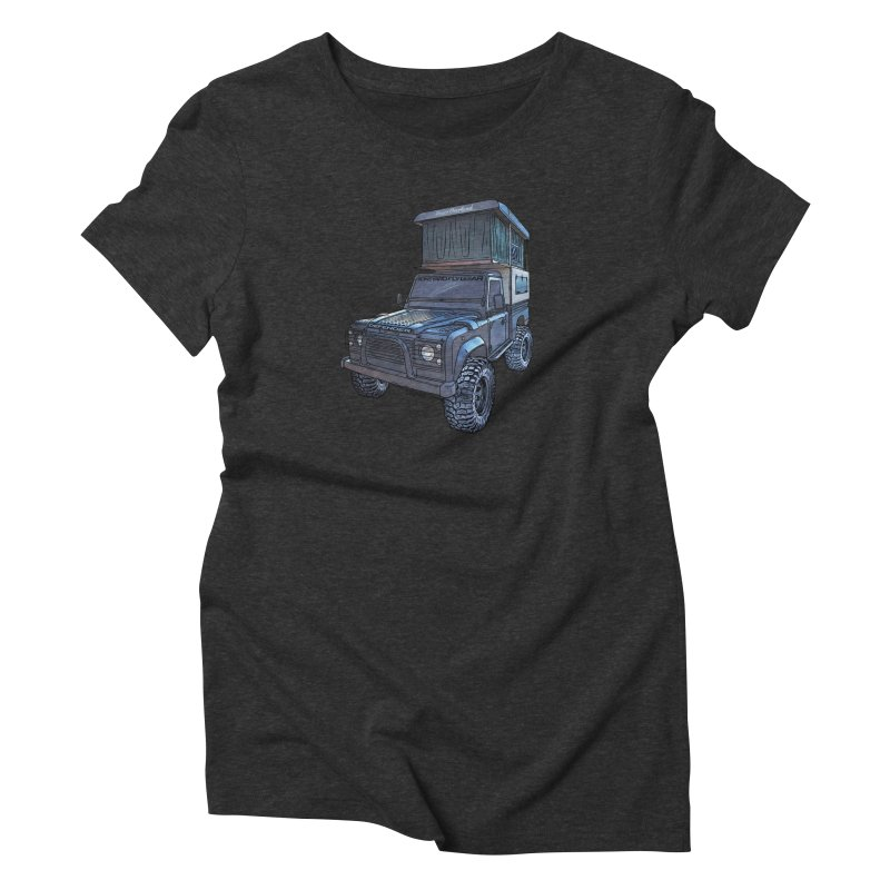 Hower Overland Defender Women's Triblend T-Shirt by Boneyard Studio - Boneyard Fly Gear