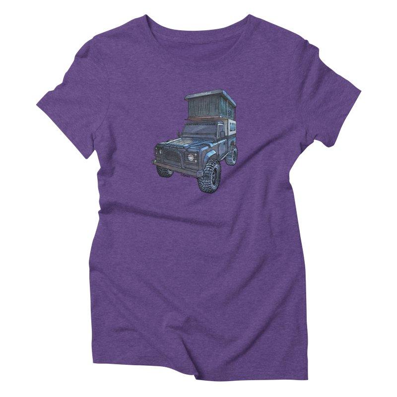 Hower Overland Defender Women's Triblend T-Shirt by Boneyard Studio - Boneyard Fly Gear