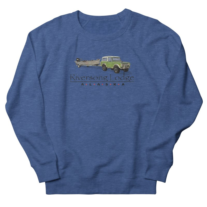 Riversong Lodge Adventure Rig (Black lettering) Men's Sweatshirt by Boneyard Studio - Boneyard Fly Gear
