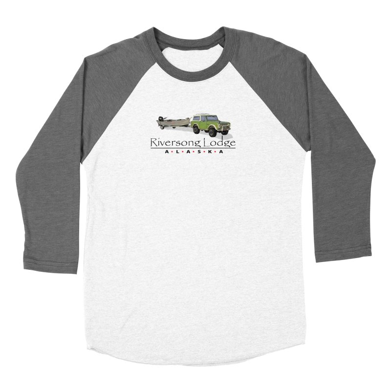 Riversong Lodge Adventure Rig (Black lettering) Women's Longsleeve T-Shirt by Boneyard Studio - Boneyard Fly Gear