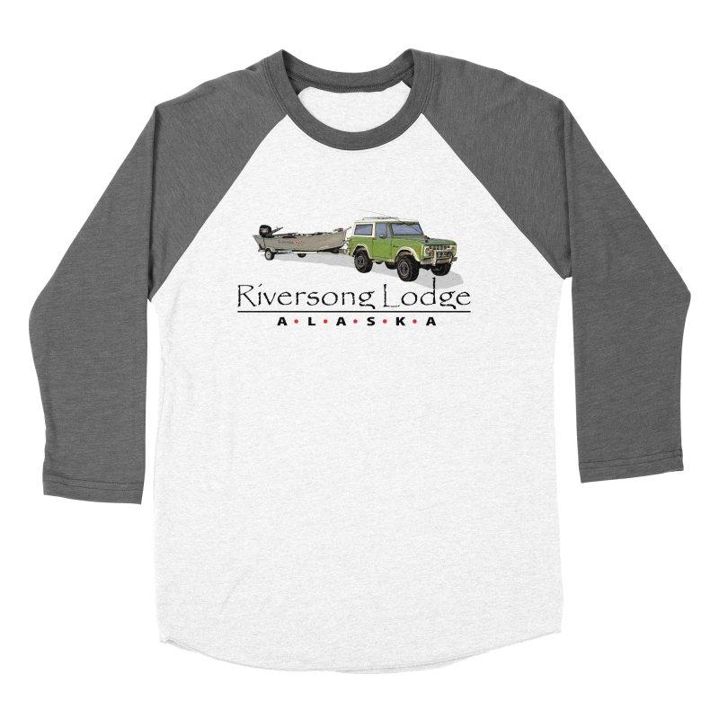 Riversong Lodge Adventure Rig (Black lettering) Men's Baseball Triblend Longsleeve T-Shirt by Boneyard Studio - Boneyard Fly Gear