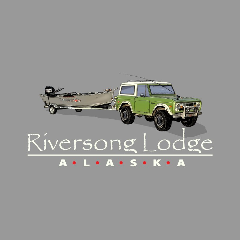 Riversong Lodge Adventure Rig (white lettering) Women's Longsleeve T-Shirt by Boneyard Studio - Boneyard Fly Gear