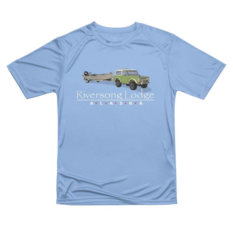 Riversong Lodge Adventure Rig (white lettering) Women's T-Shirt by Boneyard Studio - Boneyard Fly Gear