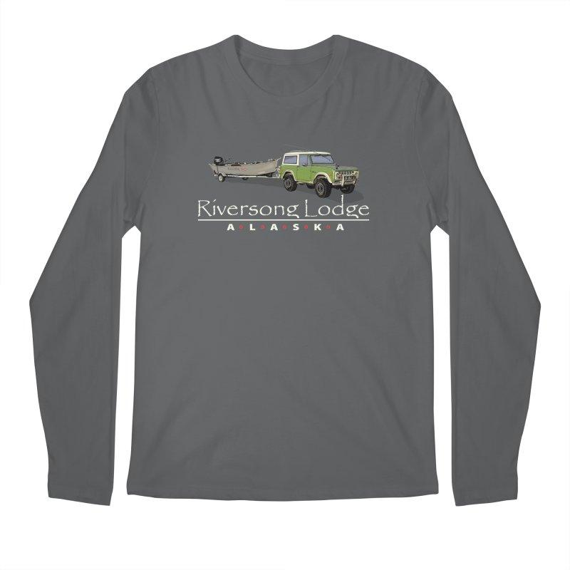 Riversong Lodge Adventure Rig (white lettering) Men's Longsleeve T-Shirt by Boneyard Studio - Boneyard Fly Gear