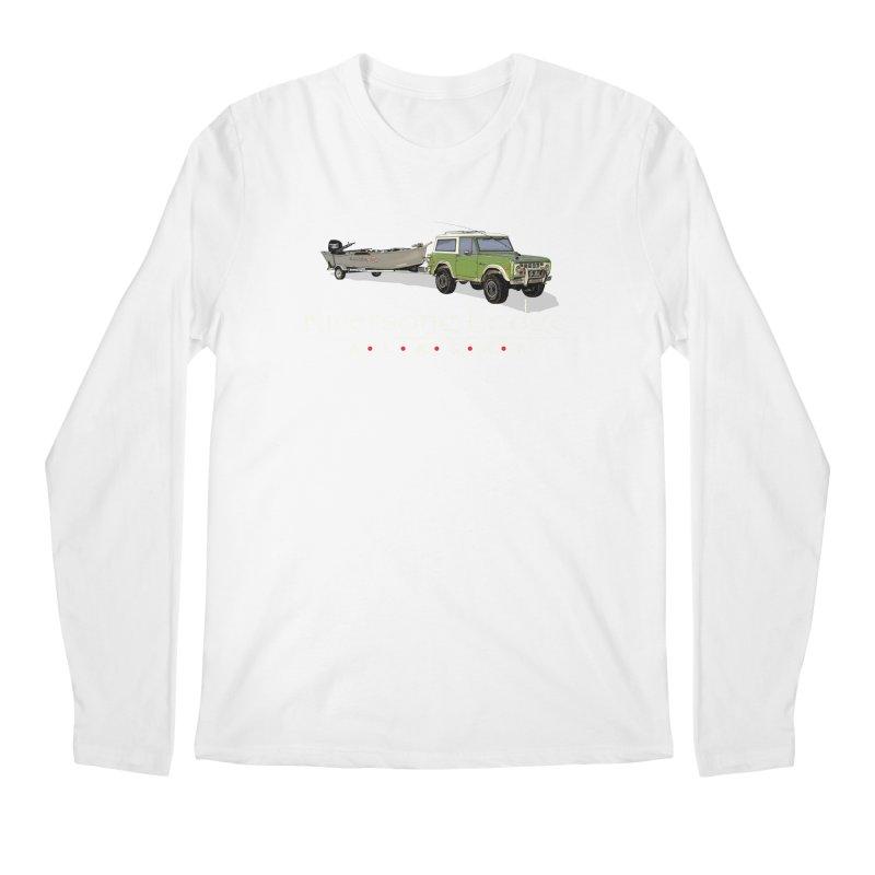 Riversong Lodge Adventure Rig (white lettering) Men's Regular Longsleeve T-Shirt by Boneyard Studio - Boneyard Fly Gear