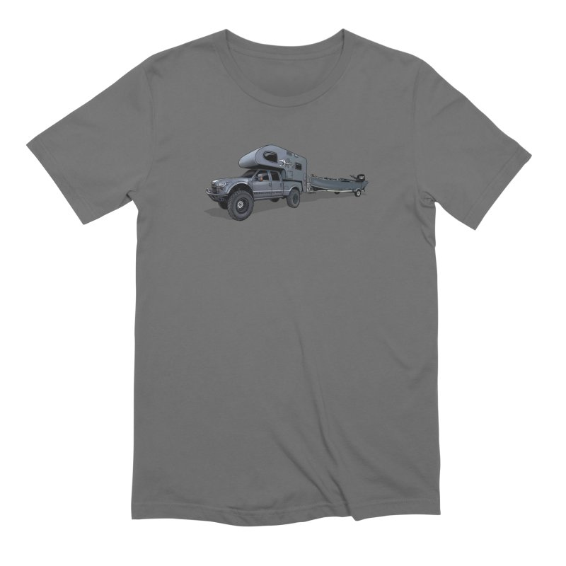 Raptor Adventure Rig in Men's Extra Soft T-Shirt Asphalt by Boneyard Studio - Boneyard Fly Gear