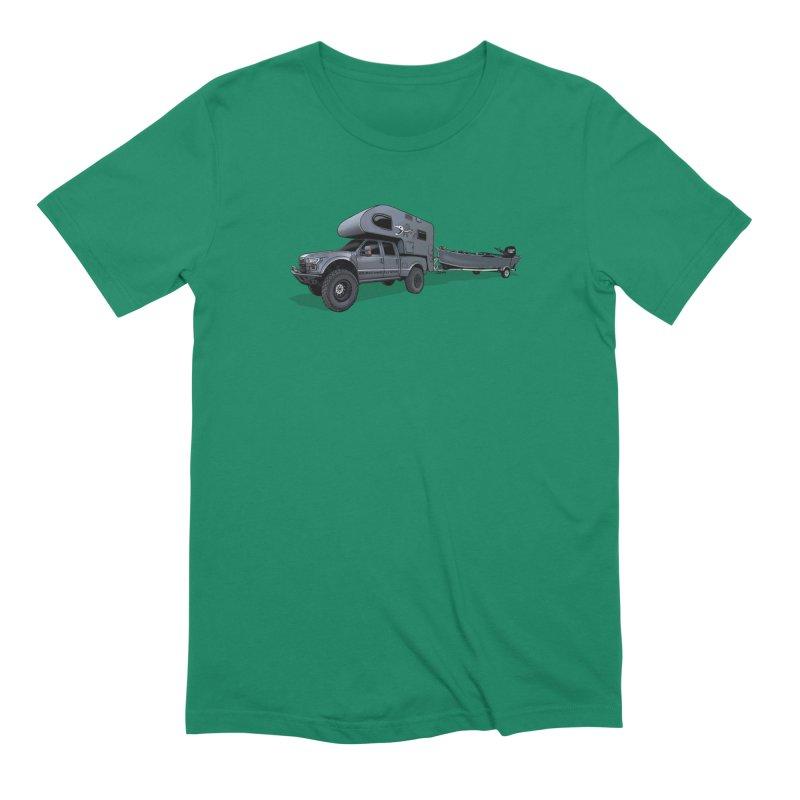 Raptor Adventure Rig Men's Extra Soft T-Shirt by Boneyard Studio - Boneyard Fly Gear