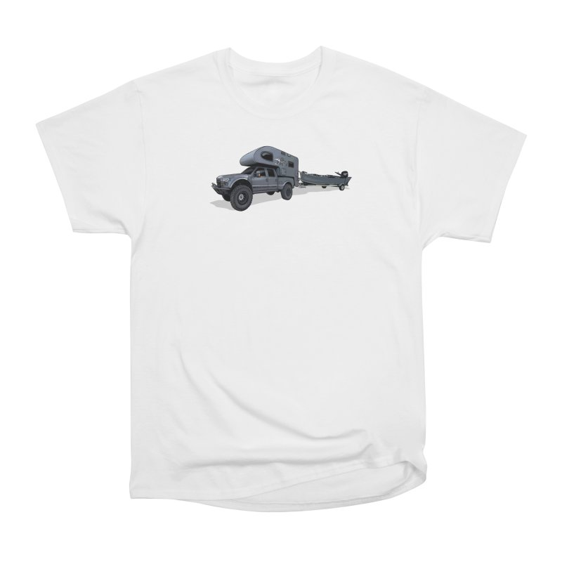 Raptor Adventure Rig Men's Heavyweight T-Shirt by Boneyard Studio - Boneyard Fly Gear
