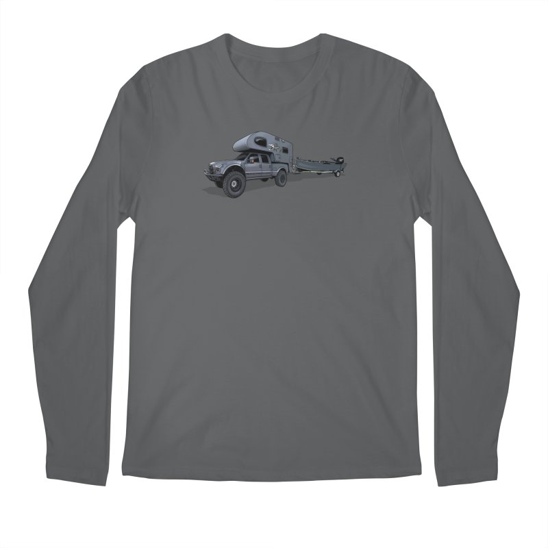 Raptor Adventure Rig Men's Longsleeve T-Shirt by Boneyard Studio - Boneyard Fly Gear
