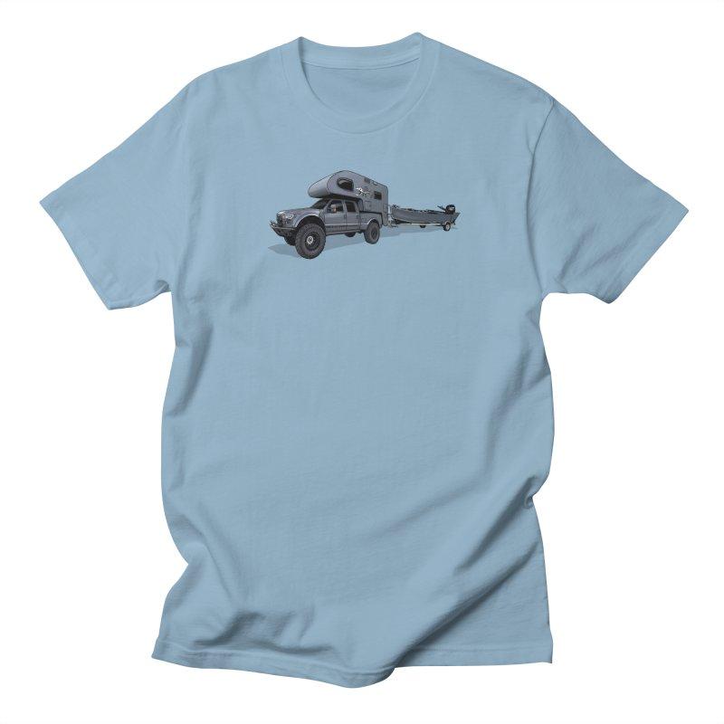 Raptor Adventure Rig Men's T-Shirt by Boneyard Studio - Boneyard Fly Gear