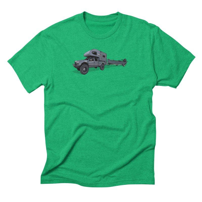 Raptor Adventure Rig Men's Triblend T-Shirt by Boneyard Studio - Boneyard Fly Gear