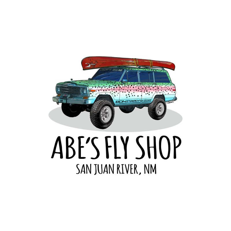 TB Wagoneer - Abe's Fly Shop Men's T-Shirt by Boneyard Studio - Boneyard Fly Gear