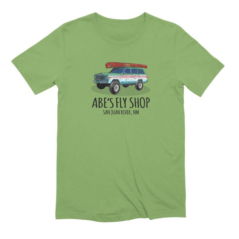 TB Wagoneer - Abe's Fly Shop Men's Extra Soft T-Shirt by Boneyard Studio - Boneyard Fly Gear