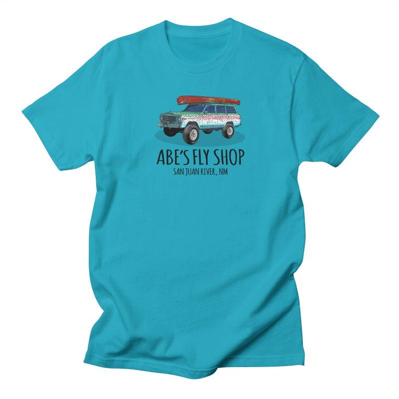 TB Wagoneer - Abe's Fly Shop Men's Regular T-Shirt by Boneyard Studio - Boneyard Fly Gear