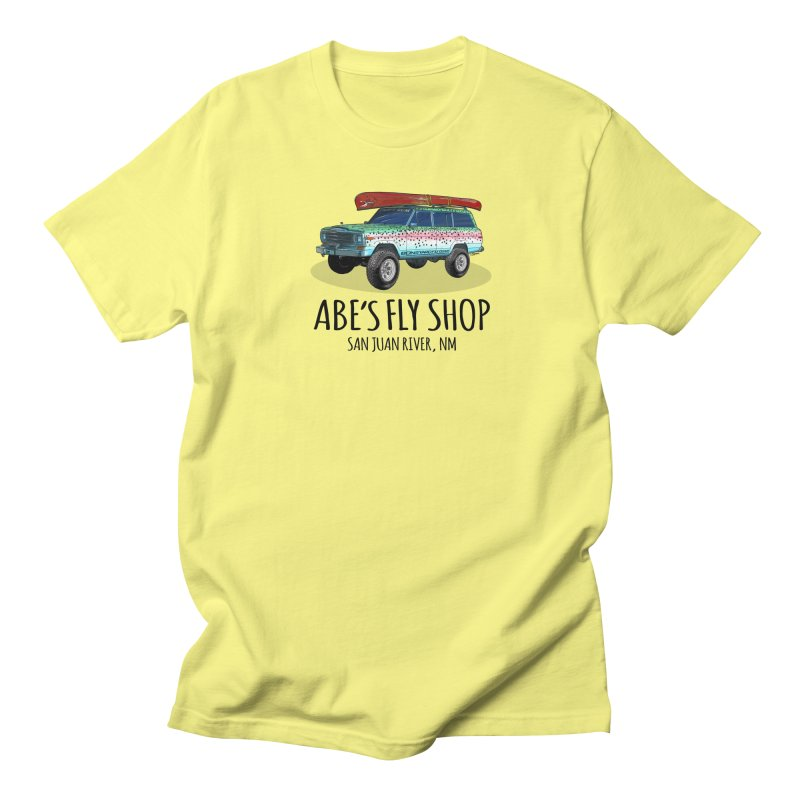 TB Wagoneer - Abe's Fly Shop Men's T-Shirt by Boneyard Studio - Boneyard Fly Gear
