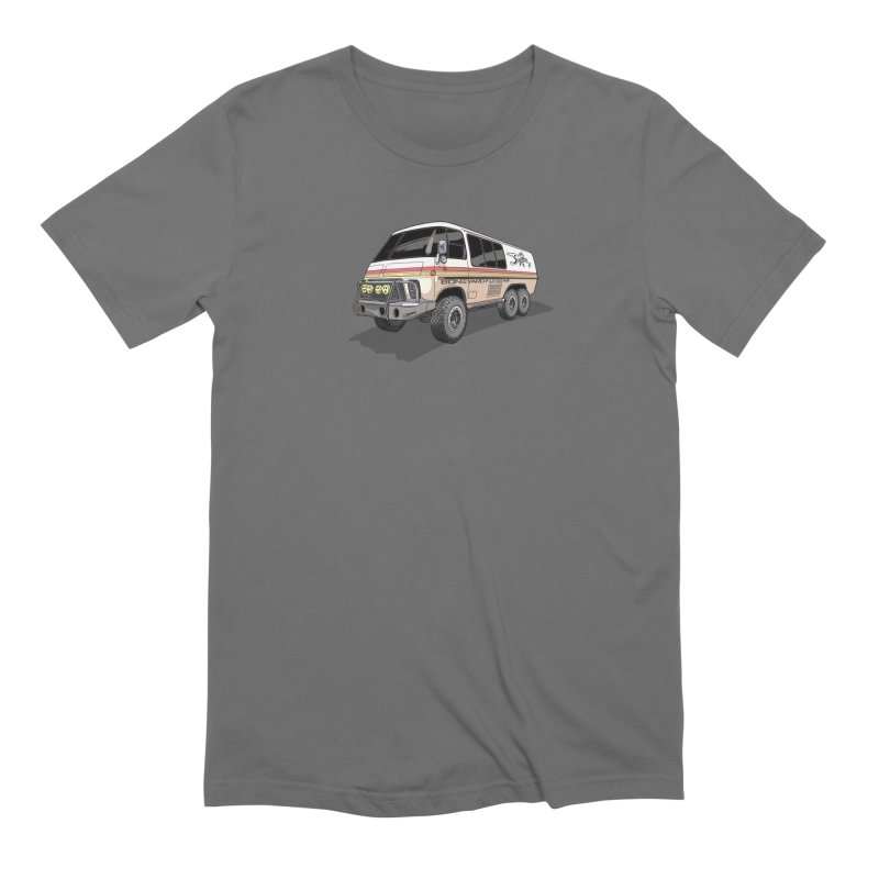 Go Big or Go Home in Men's Extra Soft T-Shirt Asphalt by Boneyard Studio - Boneyard Fly Gear