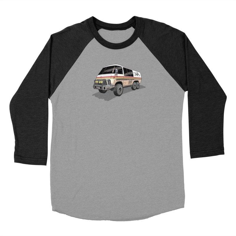 Go Big or Go Home Men's Baseball Triblend Longsleeve T-Shirt by Boneyard Studio - Boneyard Fly Gear