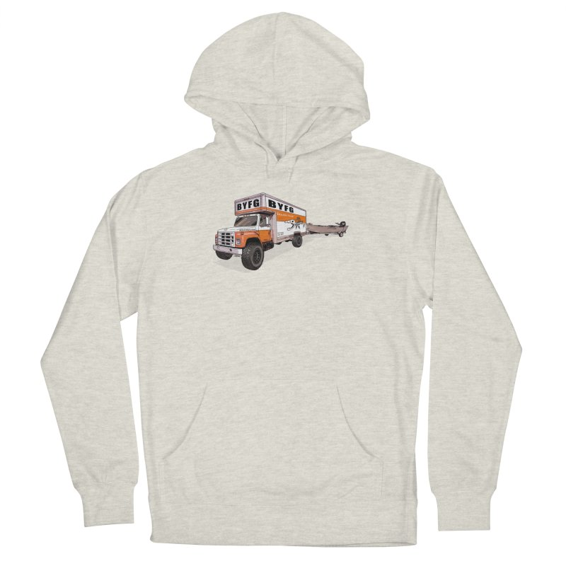 Double Hauler in Men's French Terry Pullover Hoody Heather Oatmeal by Boneyard Studio - Boneyard Fly Gear