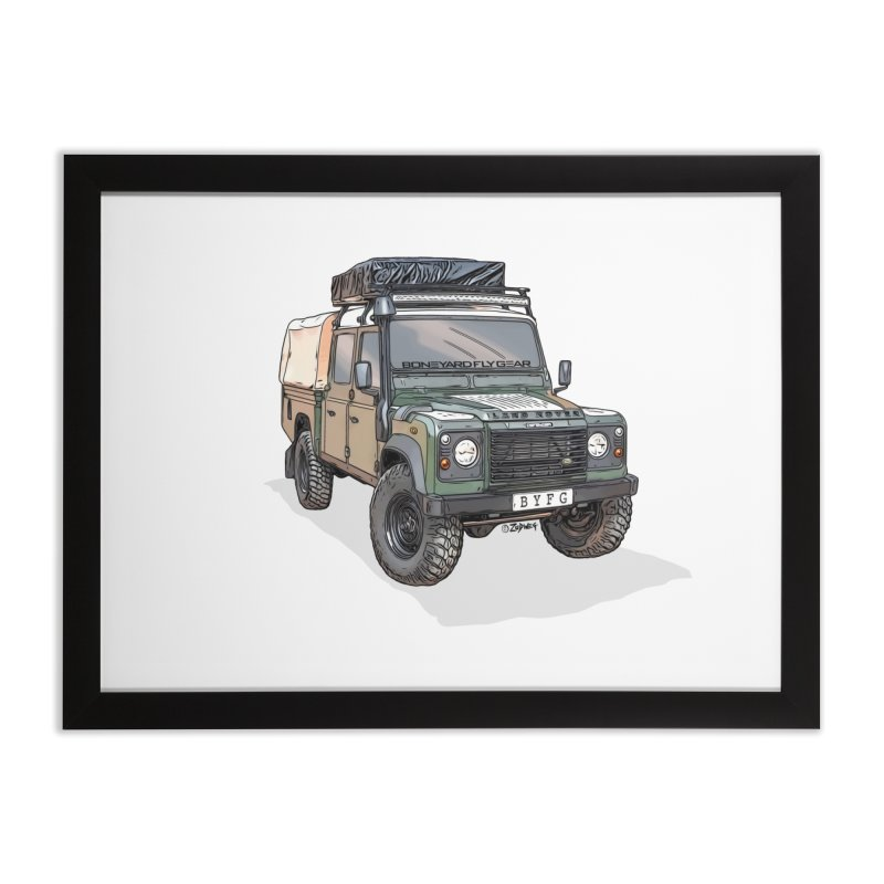 Defender in Framed Fine Art Print Black by Boneyard Studio - Boneyard Fly Gear