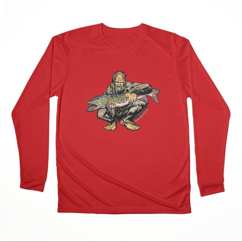 Sasquatch Musky Men's Performance Longsleeve T-Shirt by Boneyard Studio - Boneyard Fly Gear