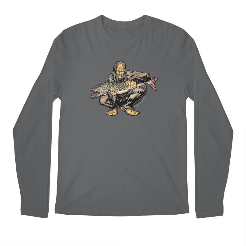 Sasquatch Musky Men's Longsleeve T-Shirt by Boneyard Studio - Boneyard Fly Gear