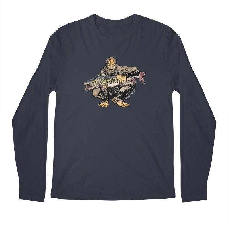 Sasquatch Musky Men's Regular Longsleeve T-Shirt by Boneyard Studio - Boneyard Fly Gear