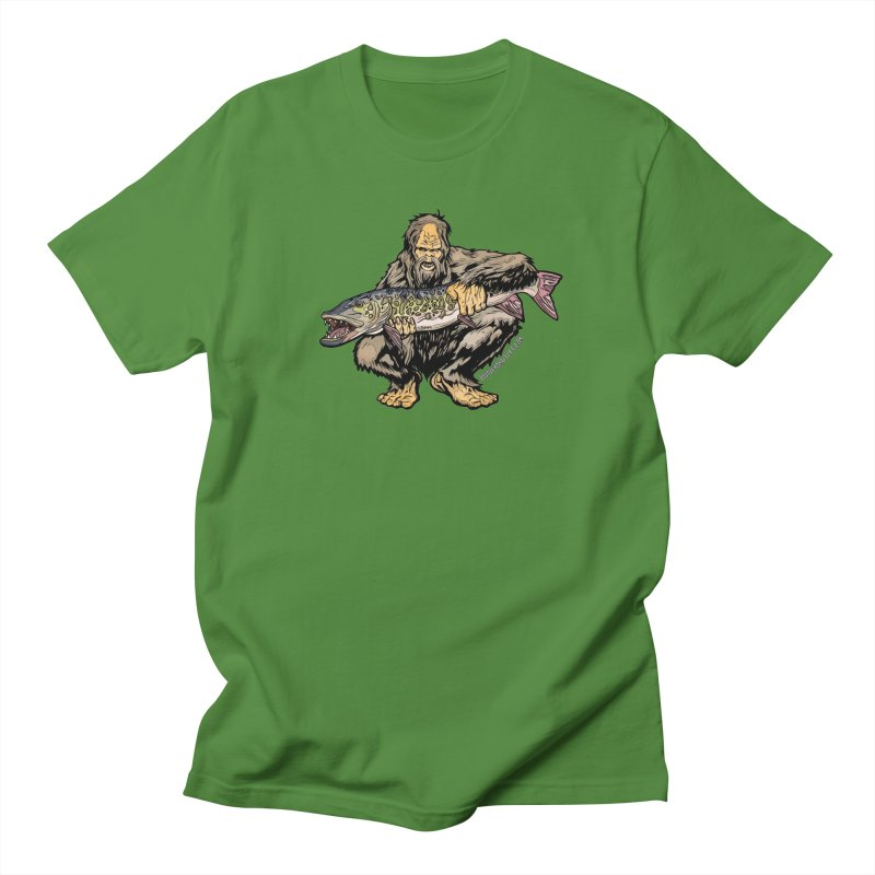 Sasquatch Musky Men's Regular T-Shirt by Boneyard Studio - Boneyard Fly Gear