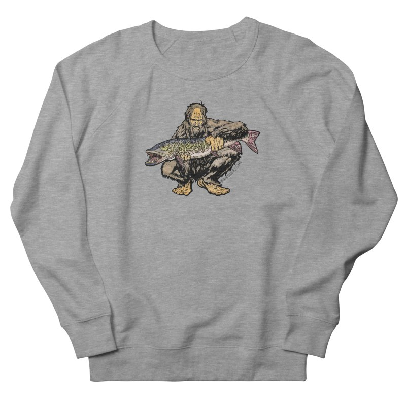 Sasquatch Musky Men's French Terry Sweatshirt by Boneyard Studio - Boneyard Fly Gear