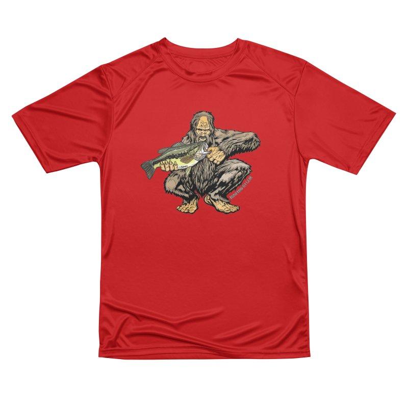 Sasquatch Largemouth Bass Men's Performance T-Shirt by Boneyard Studio - Boneyard Fly Gear