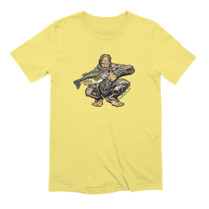 Sasquatch Largemouth Bass Men's Extra Soft T-Shirt by Boneyard Studio - Boneyard Fly Gear