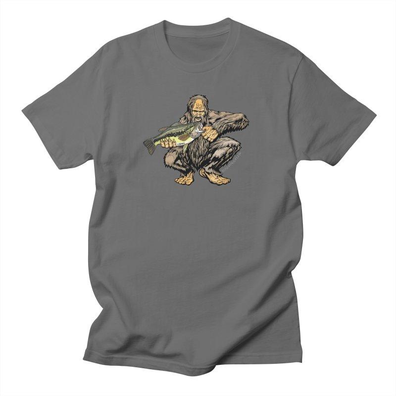 Sasquatch Largemouth Bass Men's T-Shirt by Boneyard Studio - Boneyard Fly Gear