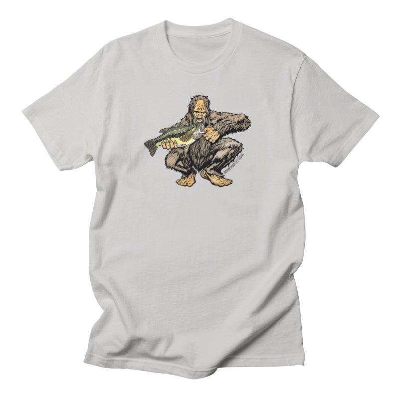Sasquatch Largemouth Bass Men's Regular T-Shirt by Boneyard Studio - Boneyard Fly Gear