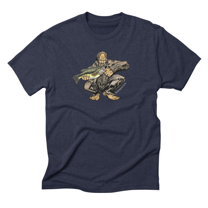 Sasquatch Largemouth Bass Men's Triblend T-Shirt by Boneyard Studio - Boneyard Fly Gear