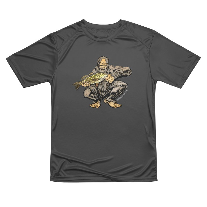 Sasquatch Smallmouth Bass Men's Performance T-Shirt by Boneyard Studio - Boneyard Fly Gear