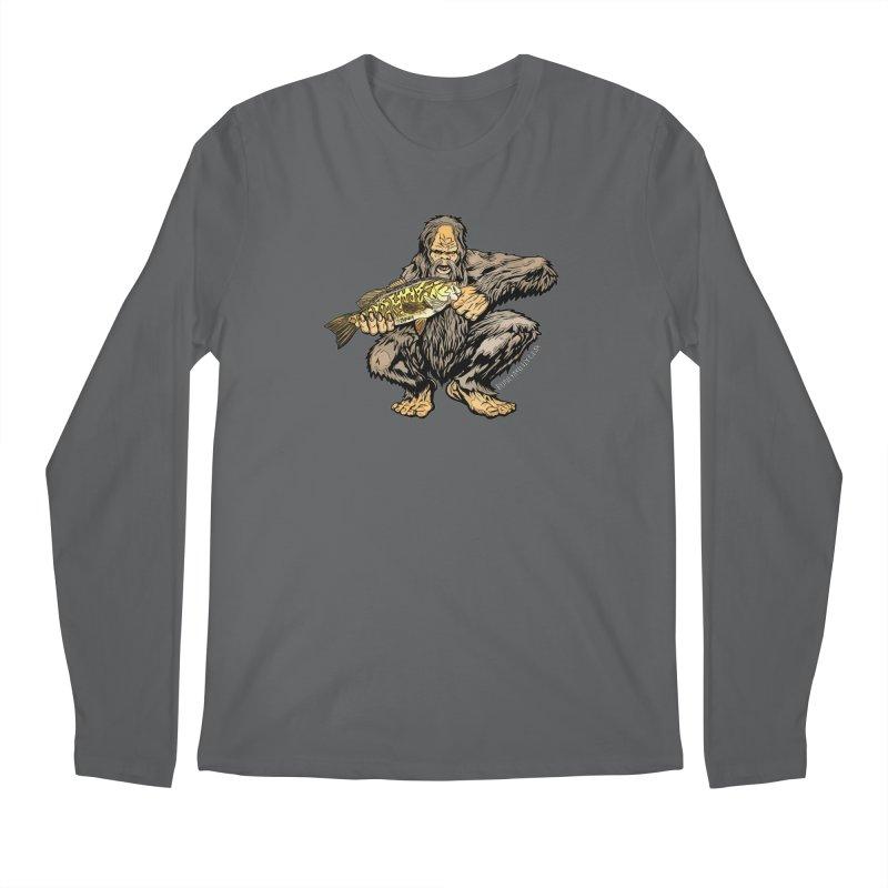 Sasquatch Smallmouth Bass Men's Longsleeve T-Shirt by Boneyard Studio - Boneyard Fly Gear