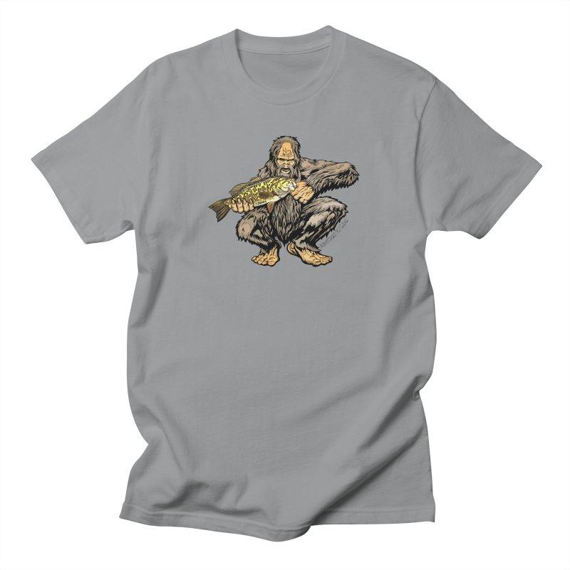 Sasquatch Smallmouth Bass Men's Regular T-Shirt by Boneyard Studio - Boneyard Fly Gear