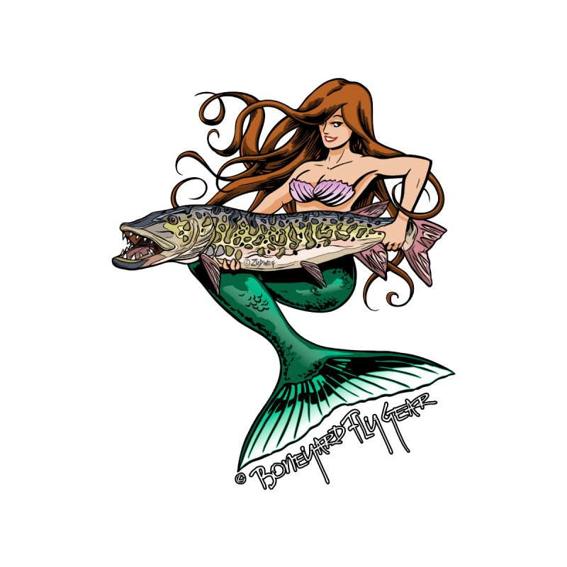 Mermaid Musky Women's T-Shirt by Boneyard Studio - Boneyard Fly Gear