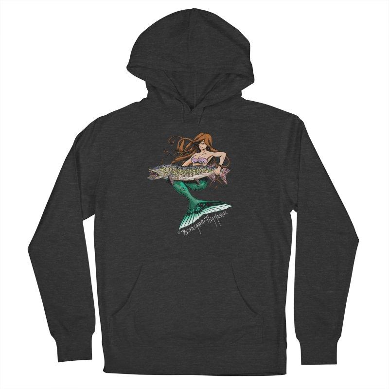 Mermaid Musky Men's French Terry Pullover Hoody by Boneyard Studio - Boneyard Fly Gear