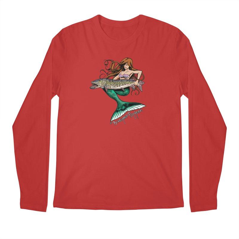 Mermaid Musky Men's Regular Longsleeve T-Shirt by Boneyard Studio - Boneyard Fly Gear