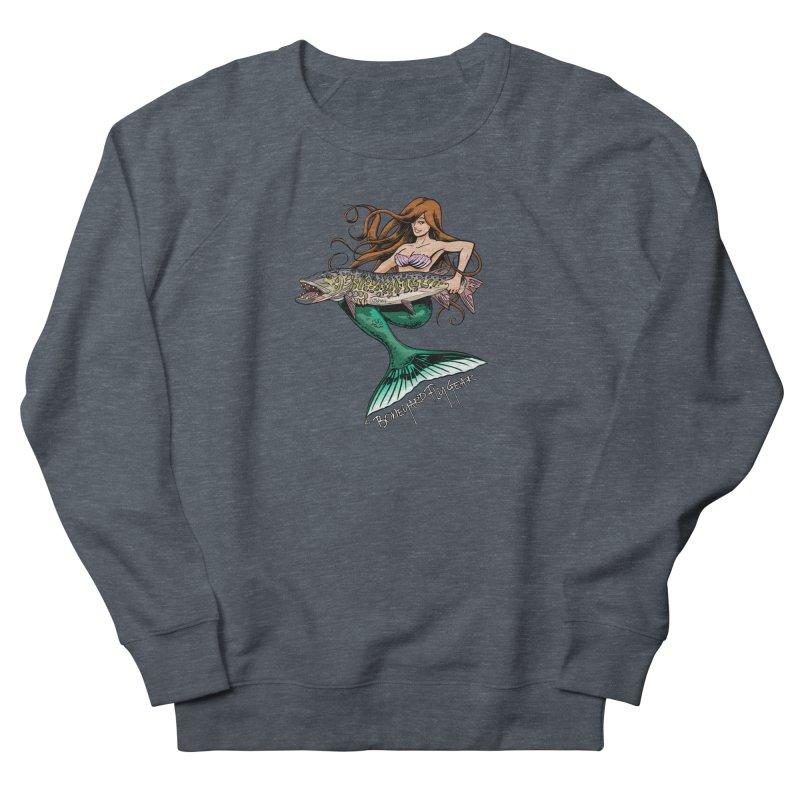 Mermaid Musky Men's French Terry Sweatshirt by Boneyard Studio - Boneyard Fly Gear