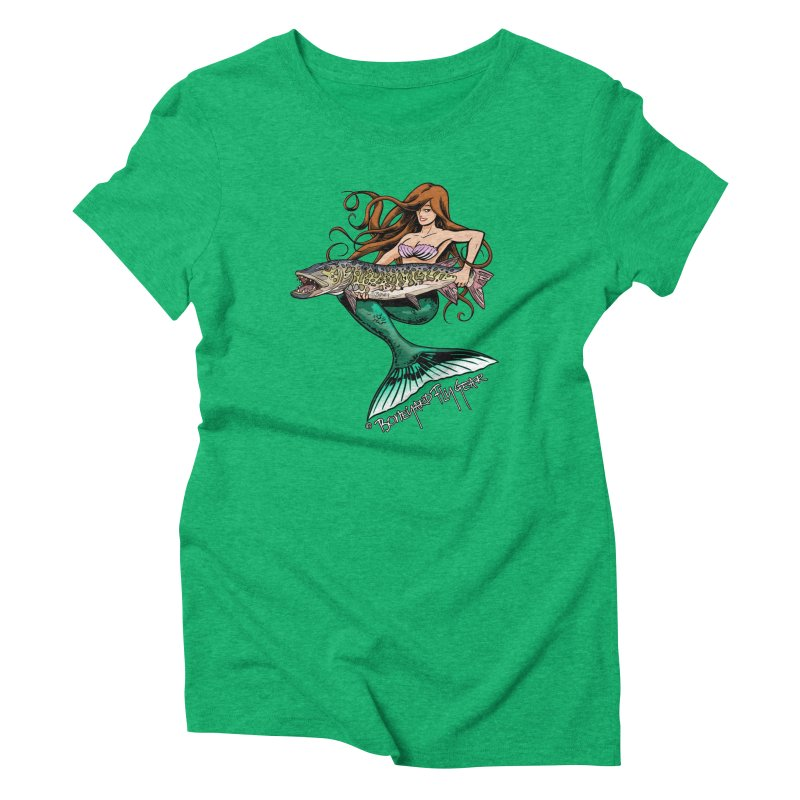 Mermaid Musky Women's Triblend T-Shirt by Boneyard Studio - Boneyard Fly Gear
