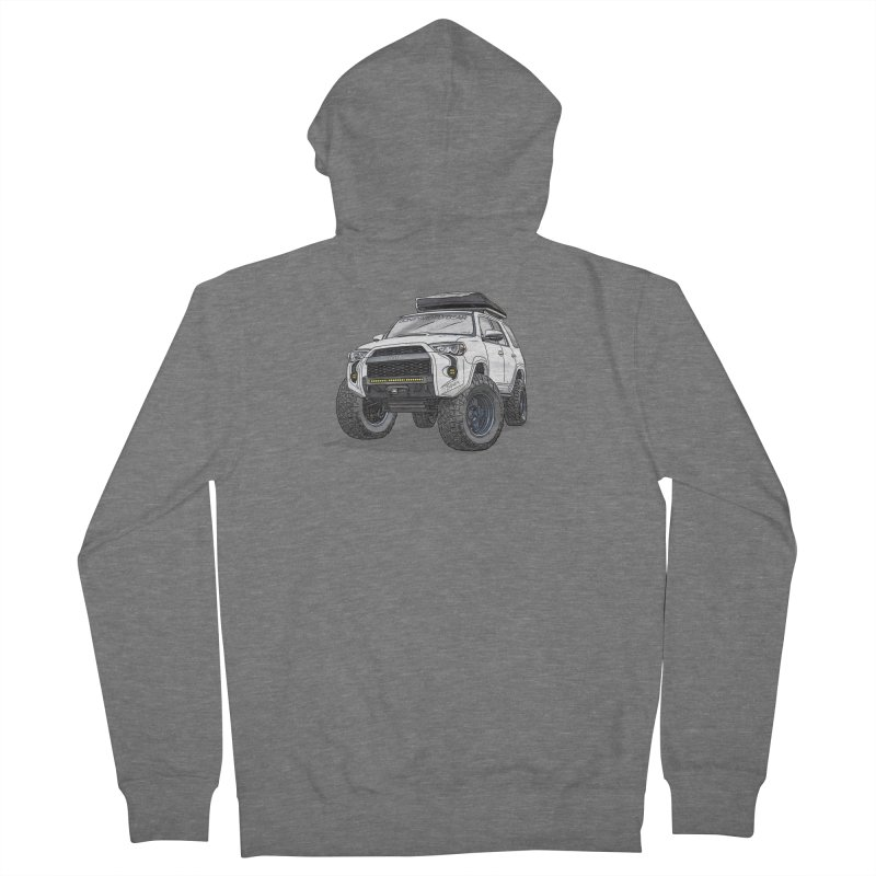 4Runner Adventure Rig Men's French Terry Zip-Up Hoody by Boneyard Studio - Boneyard Fly Gear