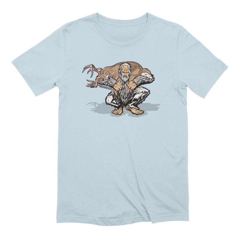 Yeti with Big Buck Men's Extra Soft T-Shirt by Boneyard Studio - Boneyard Fly Gear