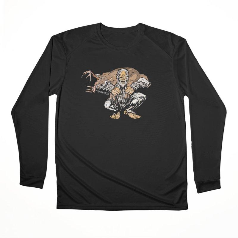 Yeti with Big Buck Men's Performance Longsleeve T-Shirt by Boneyard Studio - Boneyard Fly Gear