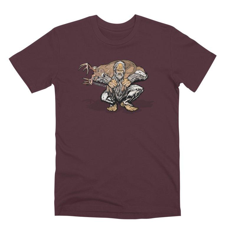 Yeti with Big Buck Men's Premium T-Shirt by Boneyard Studio - Boneyard Fly Gear