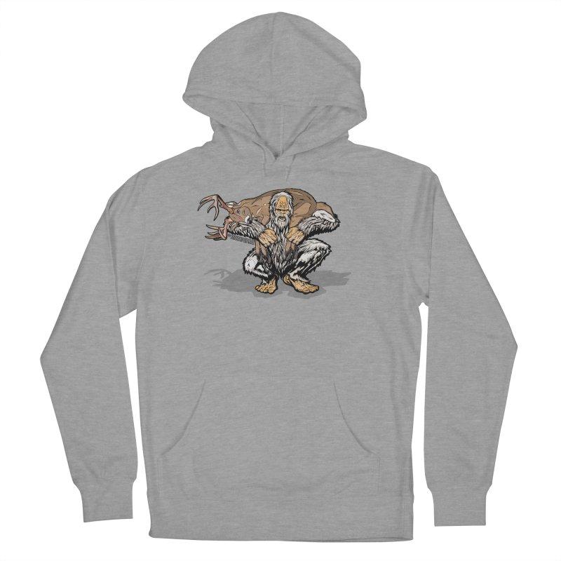 Yeti with Big Buck Men's Pullover Hoody by Boneyard Studio - Boneyard Fly Gear