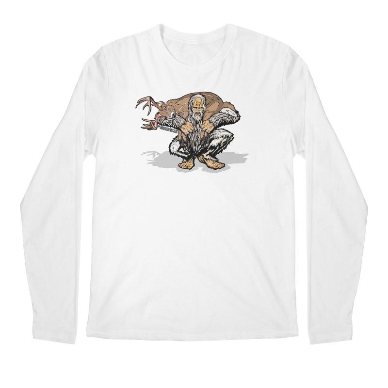 Yeti with Big Buck Men's Regular Longsleeve T-Shirt by Boneyard Studio - Boneyard Fly Gear