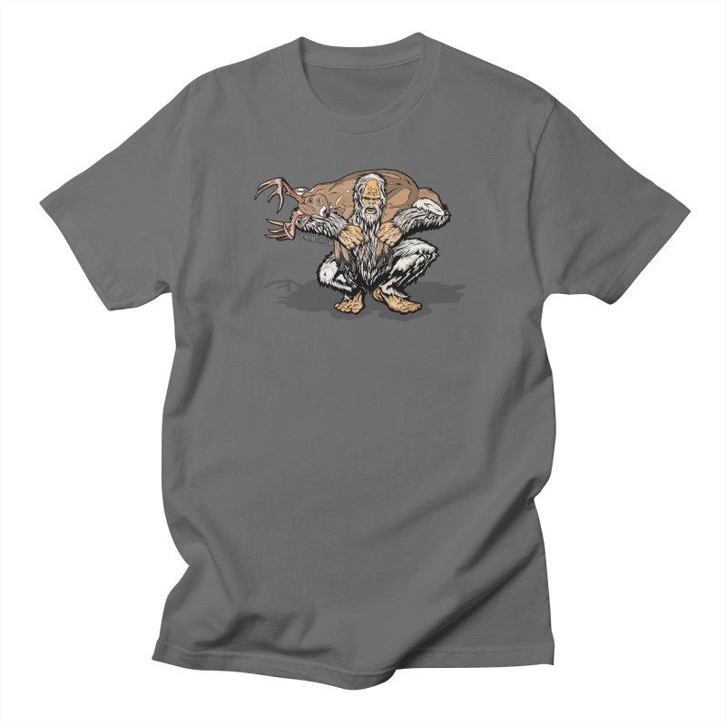 Yeti with Big Buck Men's T-Shirt by Boneyard Studio - Boneyard Fly Gear